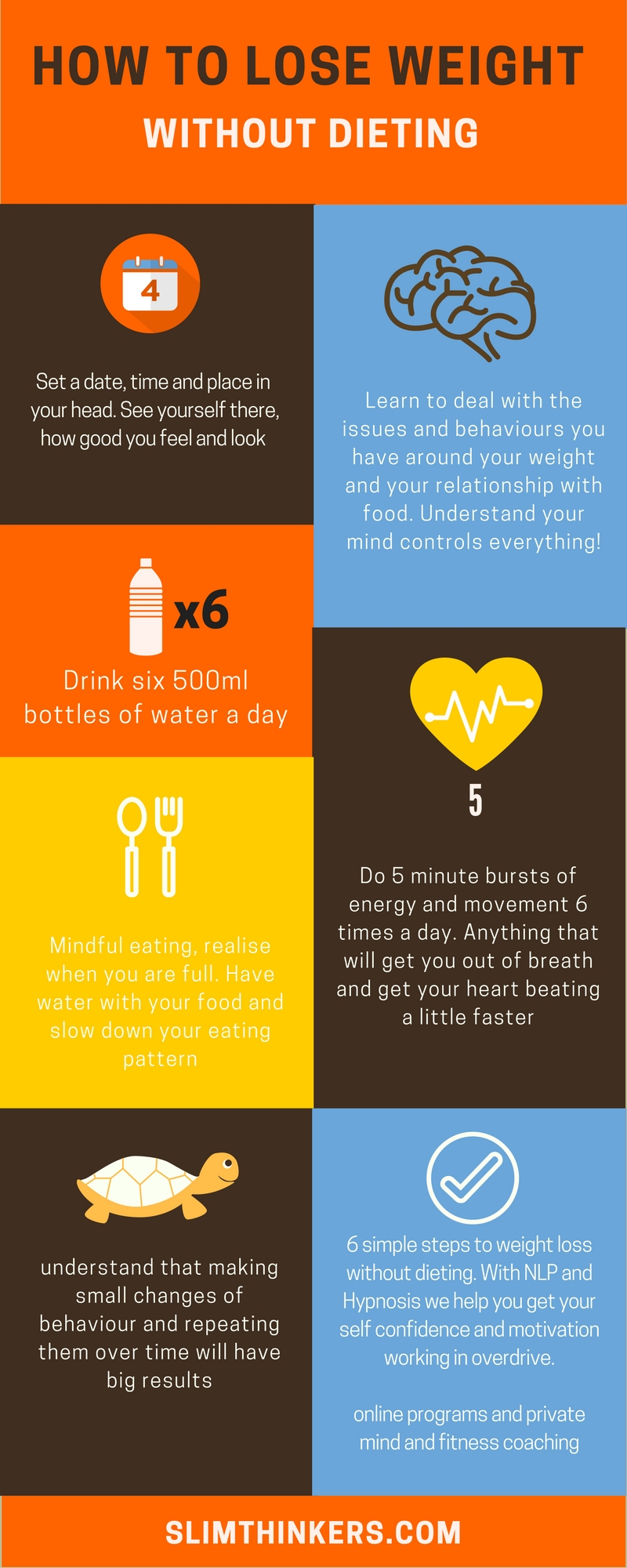how to lose weight without dieting (info graph)